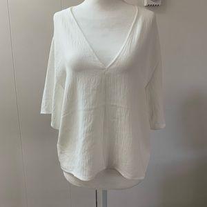 Zara white blouse NWTO
